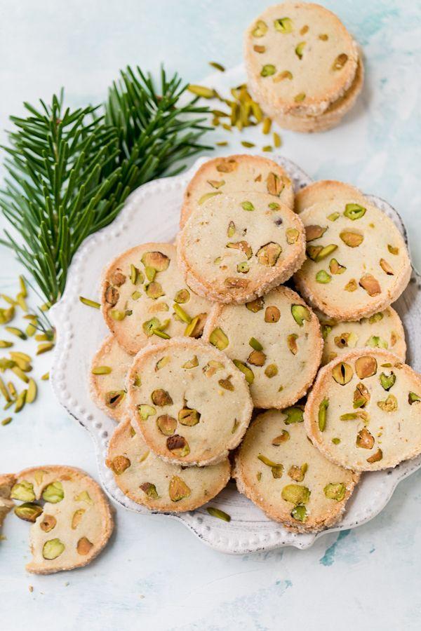 Kruche ciastka z pistacjami