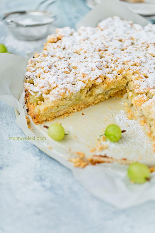 Kruszonkowe ciasto agrestowe