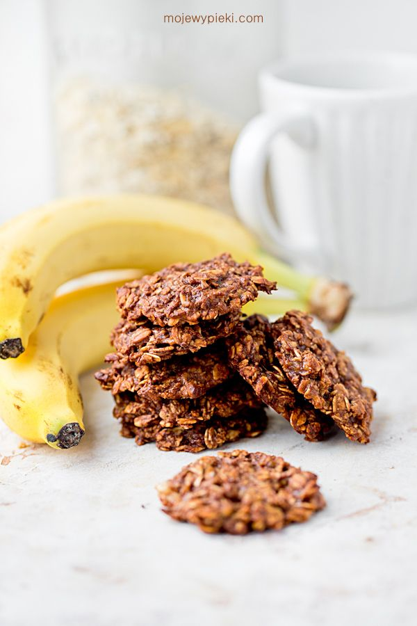 Nutella banana oat cookies