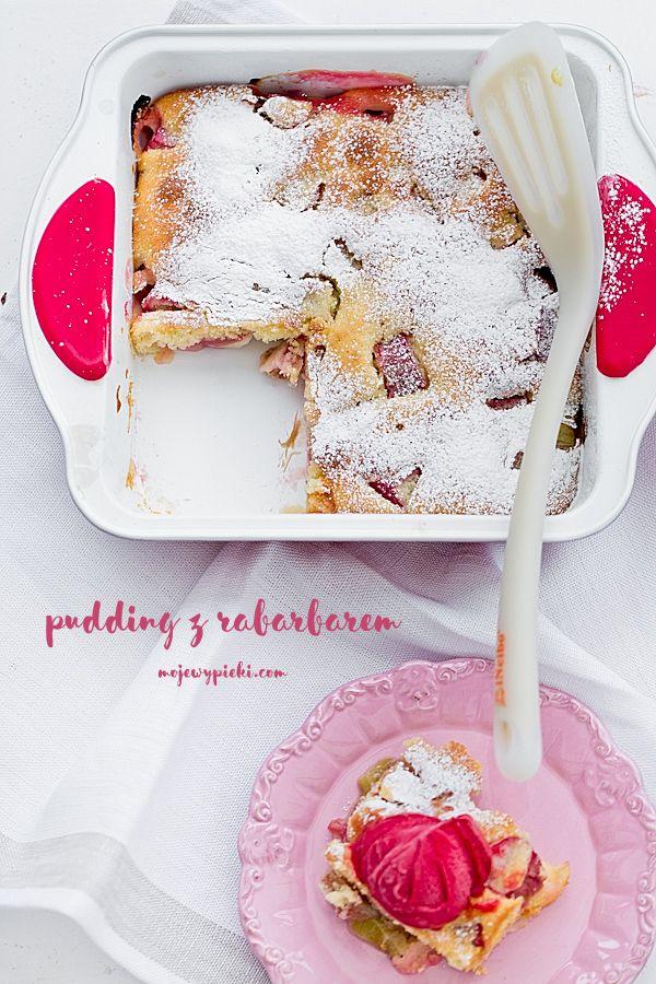 Rabarbarowy pudding