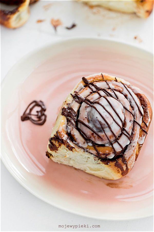 Słodkie bułeczki czekoladowe