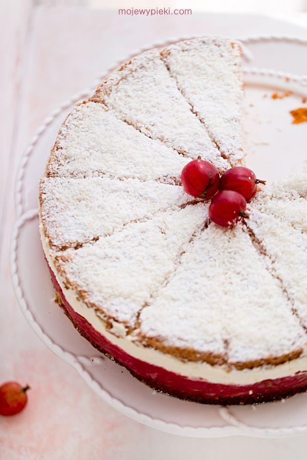 Tort agrestowy z kokosem