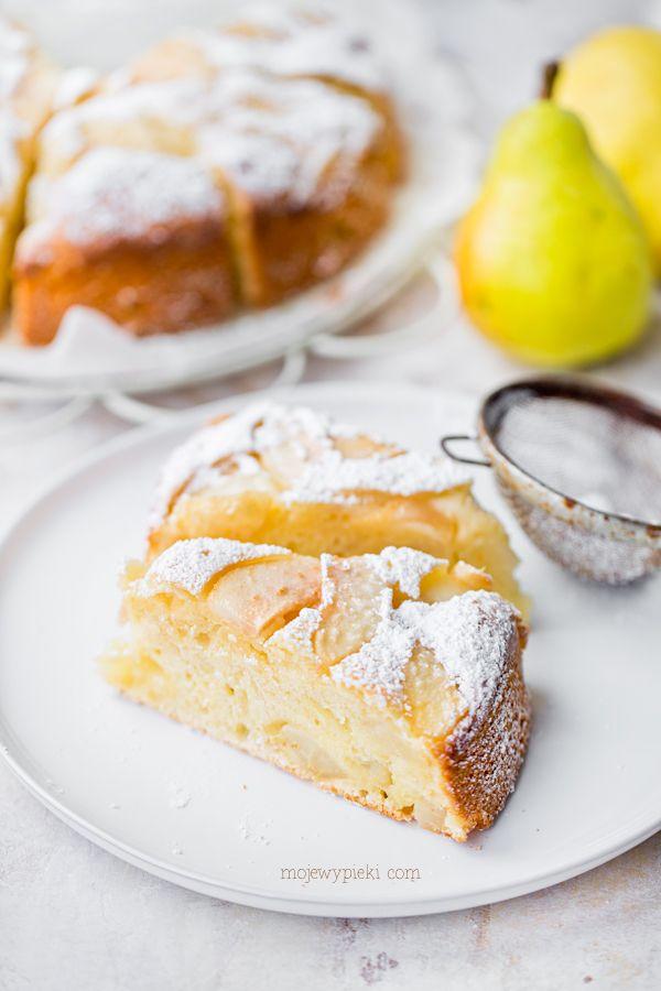 Włoskie ciasto z mascarpone i gruszkami