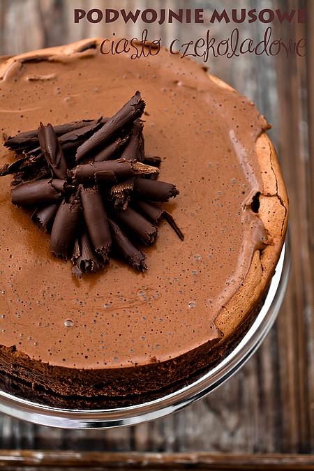 Podwójnie musowe ciasto czekoladowe