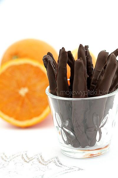 Kandyzowana pomarańczowa skórka w czekoladzie