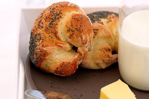 Maślane rogaliki śniadaniowe