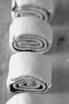 Słodkie drożdżówki z dżemem